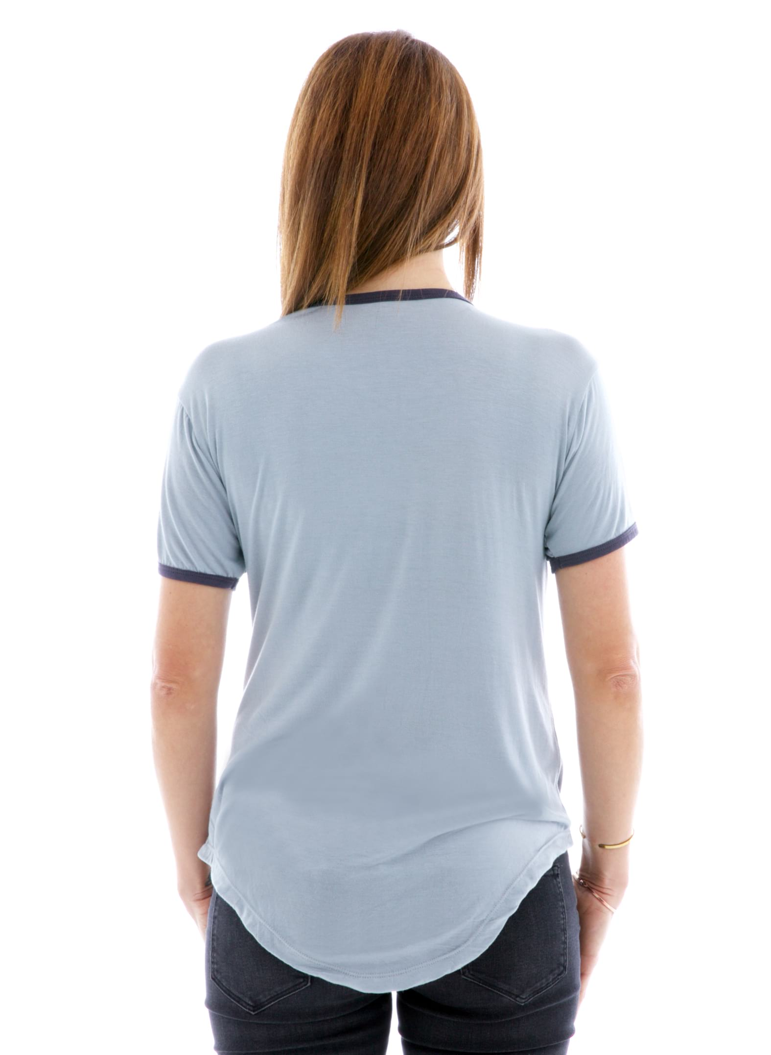 Vintage Luxe Ringer Short Sleeve T-Shirt Back View