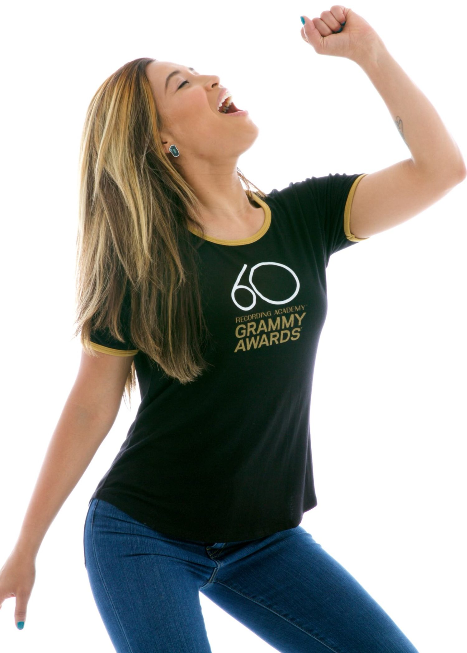 Vintage Luxe Ringer Short Sleeve T-Shirt with Logo