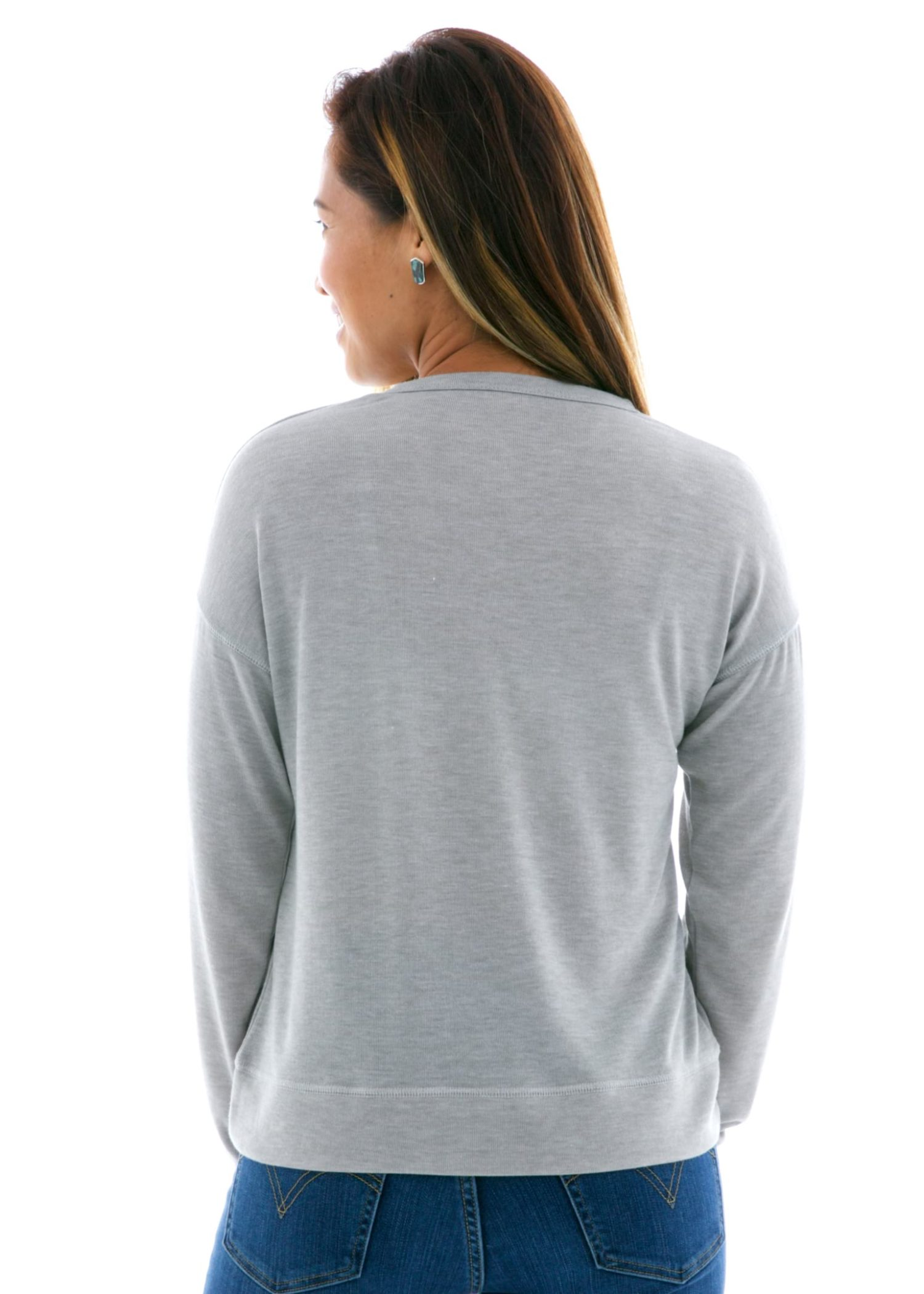 Hacci Slouchy Crop Pullover Back View
