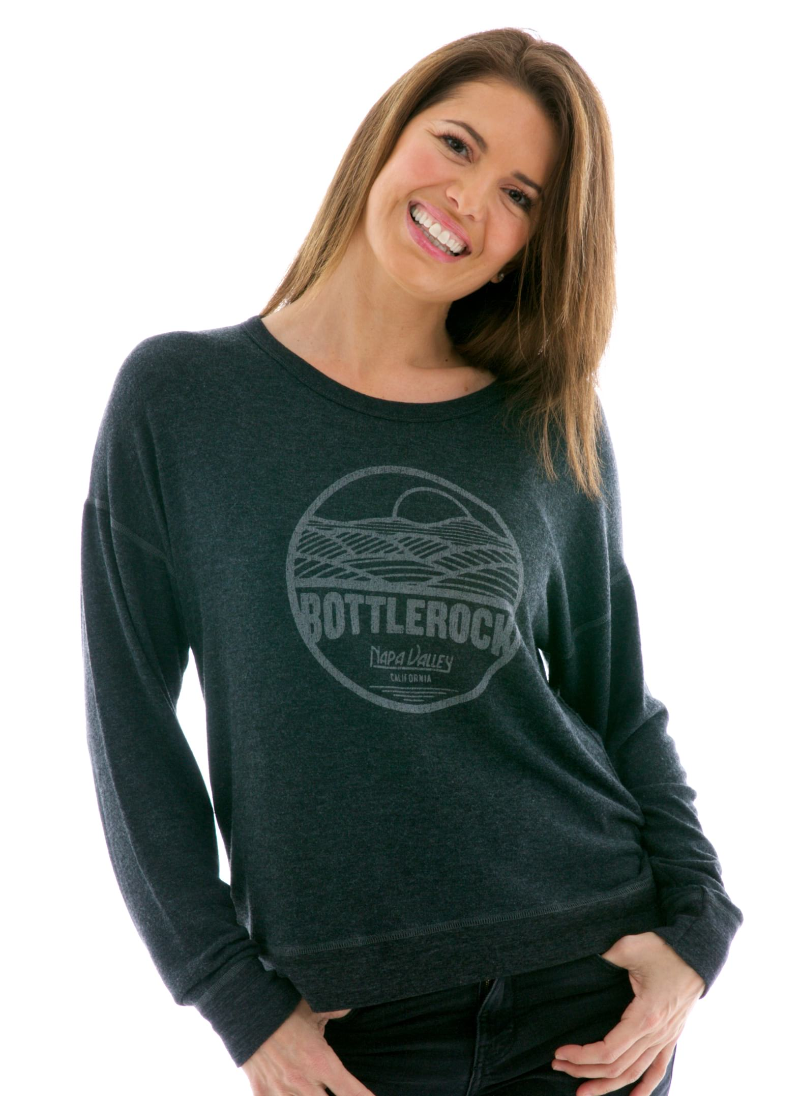 Women's Hacci Slouchy Crop Pullover