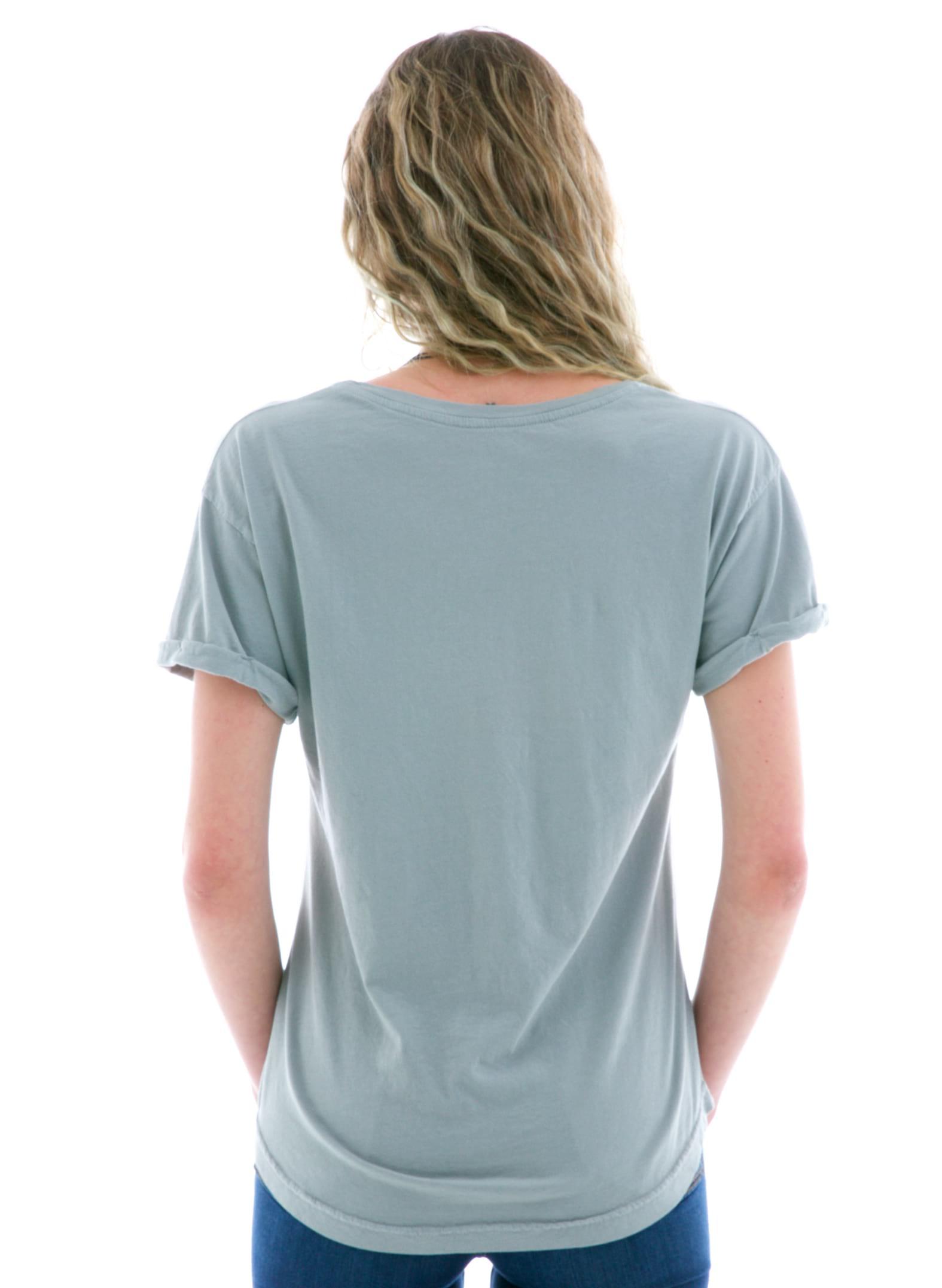 Boyfriend Rollup Crew Short Sleeve T-Shirt Back View