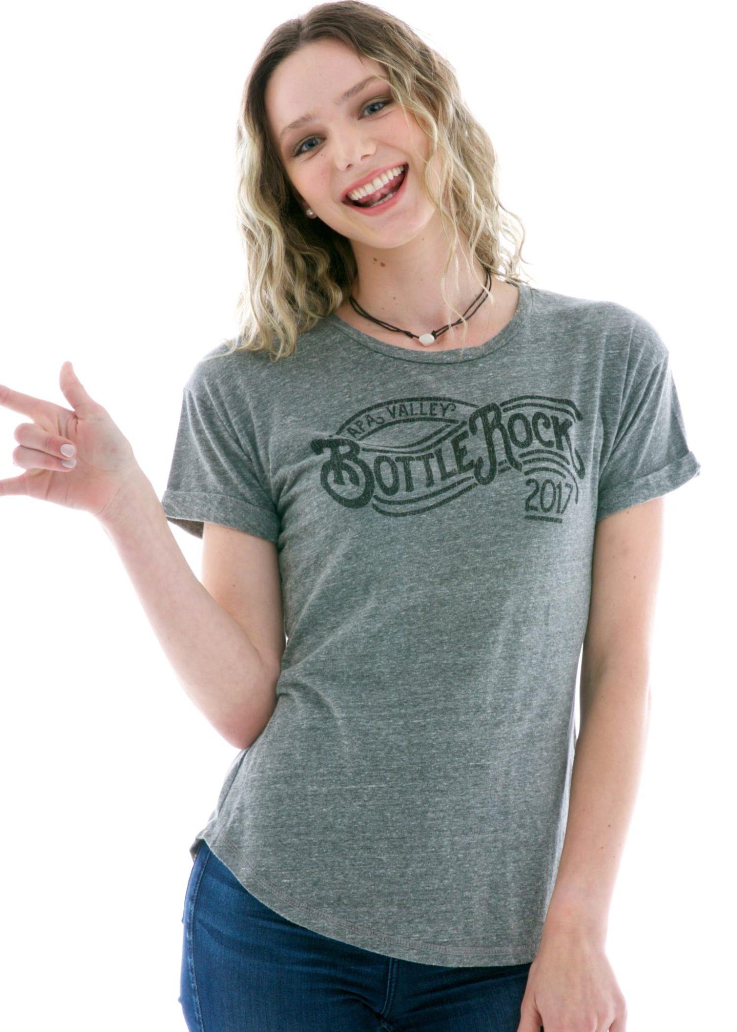 Women's Boyfriend Rollup Crew Short Sleeve T-Shirt
