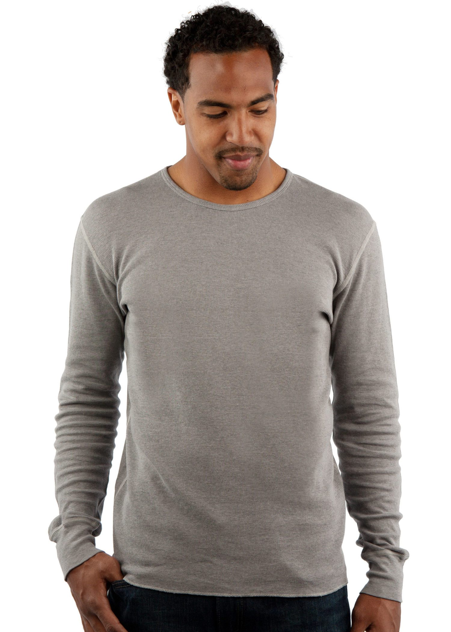 Vintage Long Sleeve Thermal T-Shirt Front View