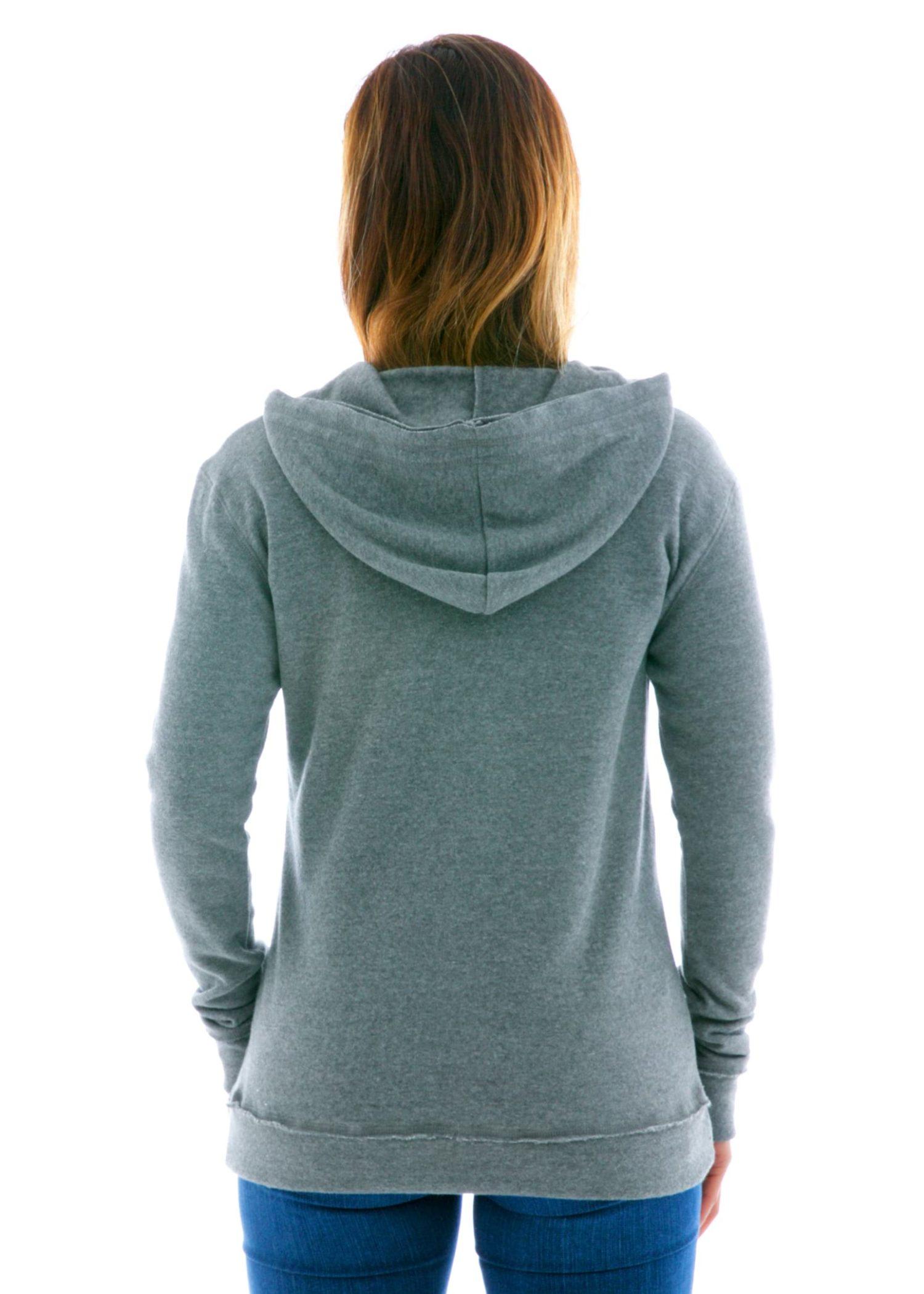 Yoga Scoop Pullover Hoodie Back View