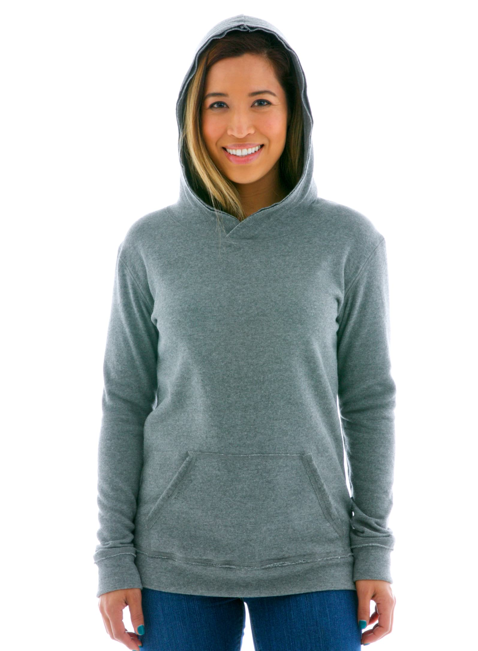 Yoga Scoop Pullover Hoodie Front View