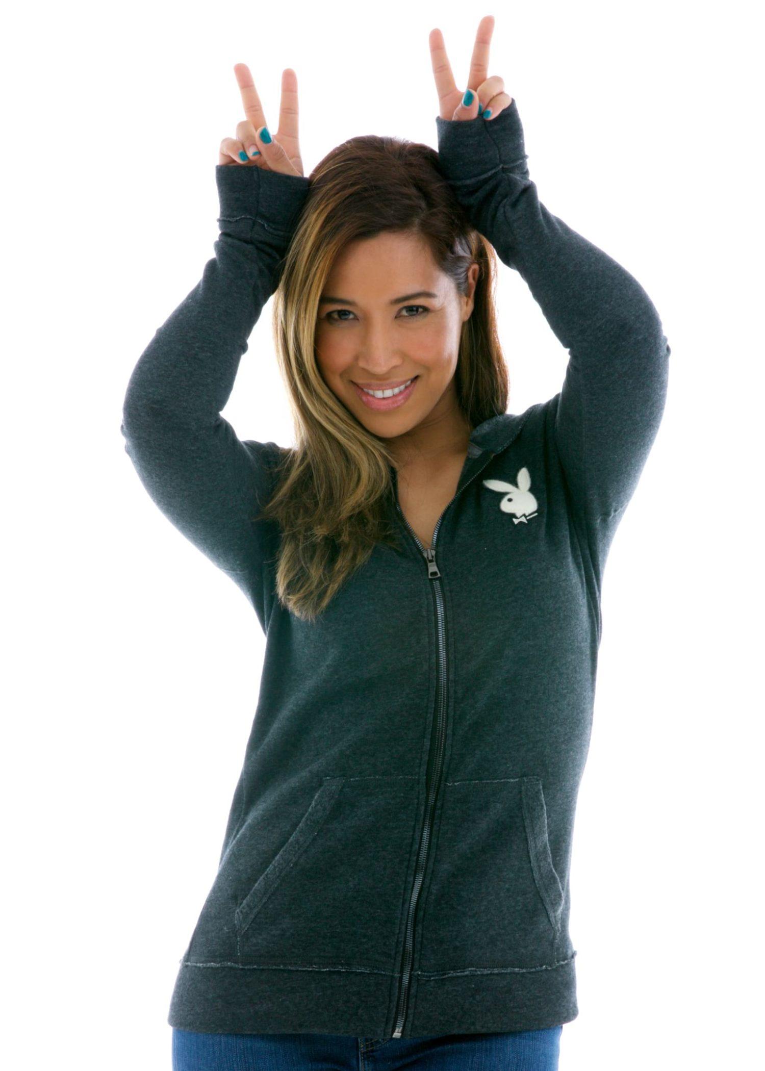 Women's Slim Fit Raw Edged Zip Hoodie
