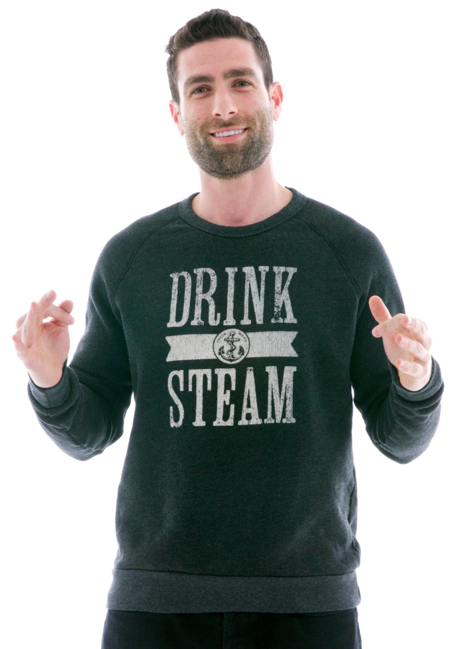 Vintage Old School Long Sleeve Raglan T-Shirt with Logo