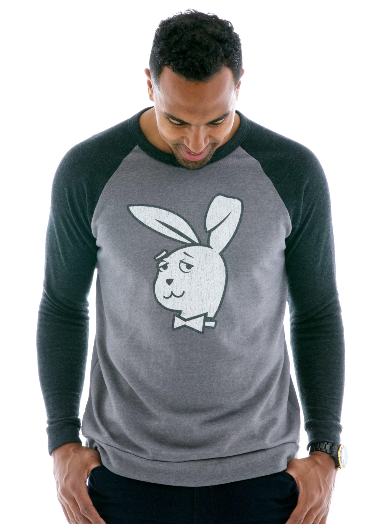 Men's Contrast Sleeve Old School Long Sleeve Raglan T-Shirt