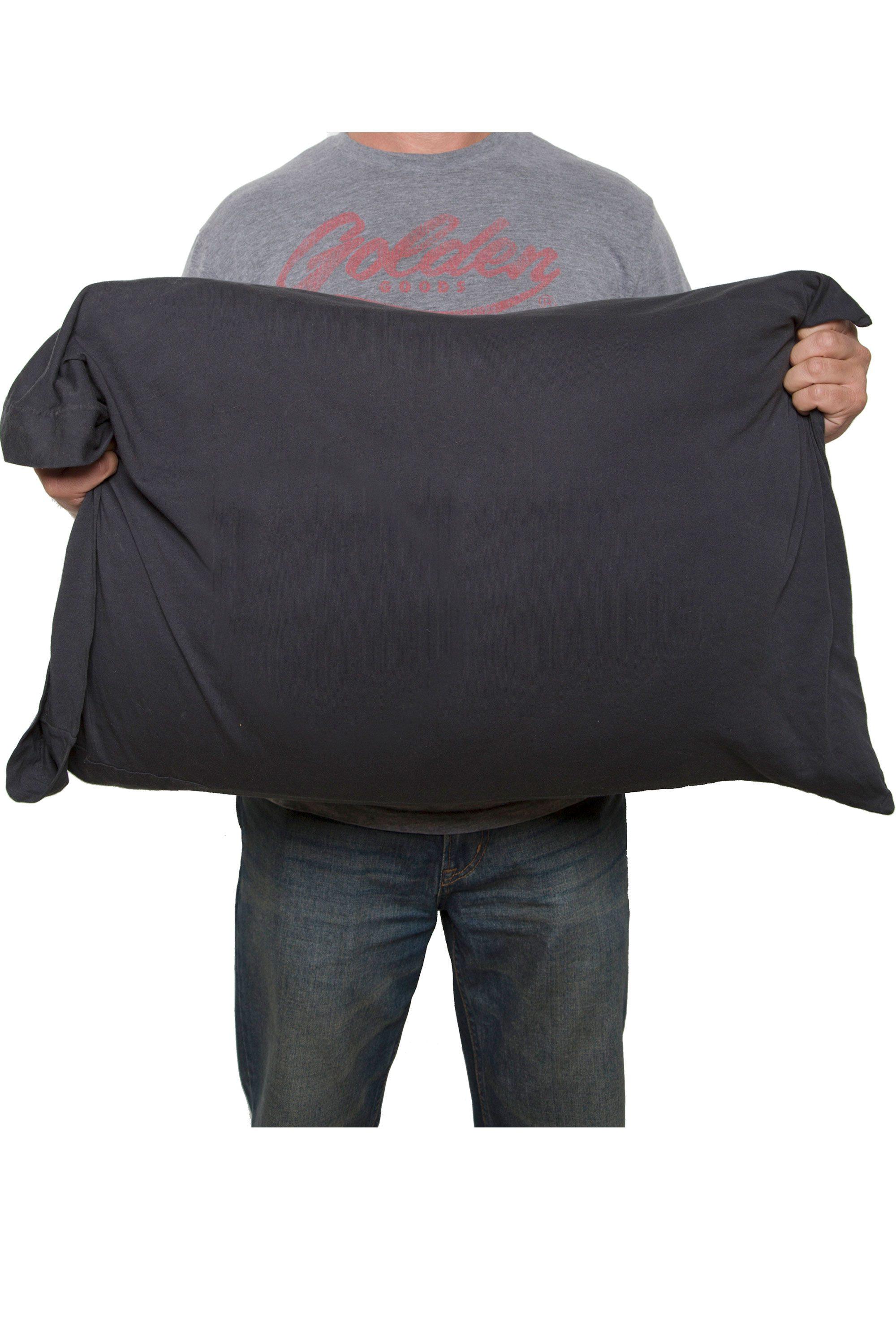 Jersey Cotton Pillowcase Back View