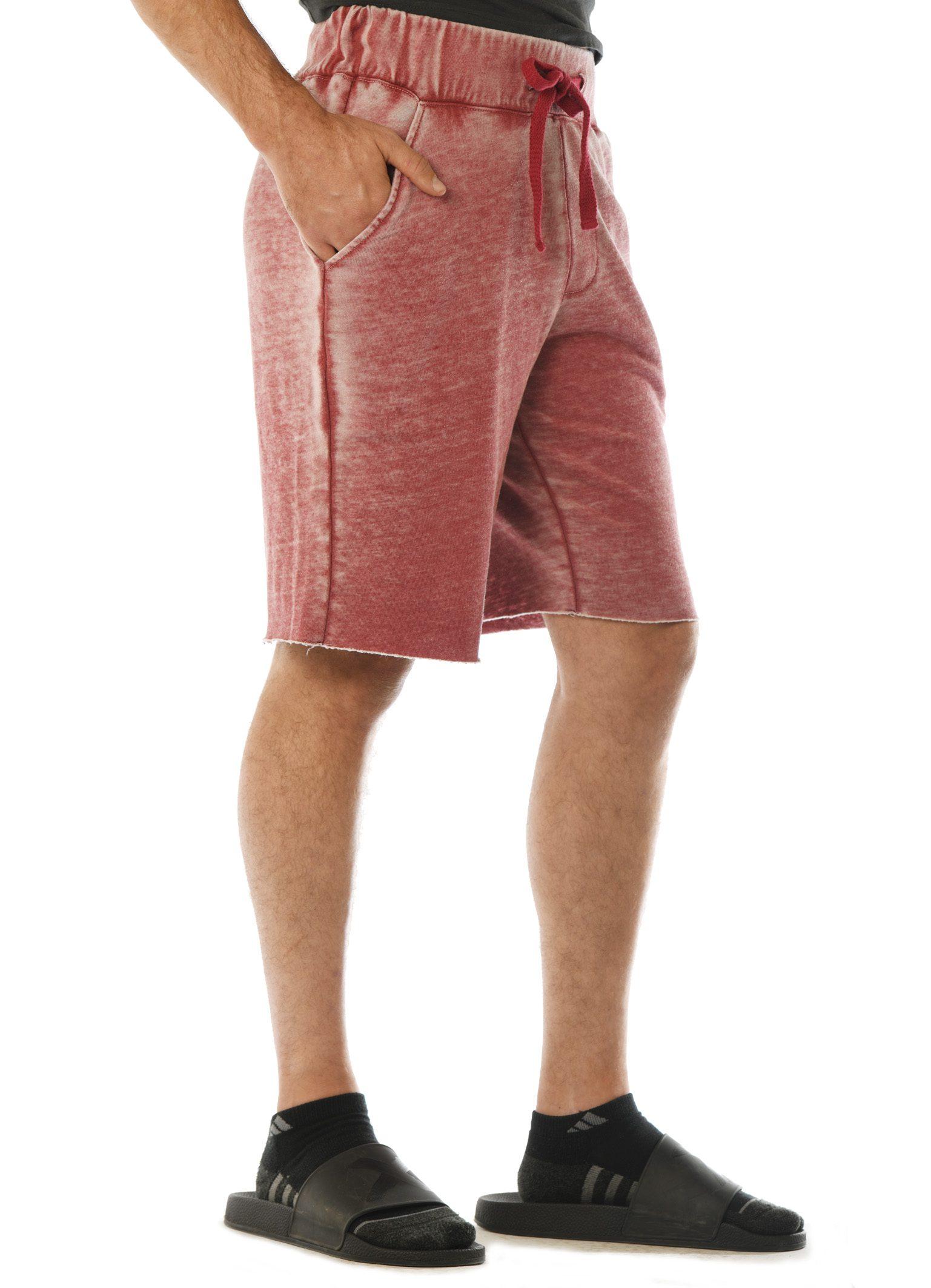 GG 315-FT-B Men's WornWash Shorts-Side
