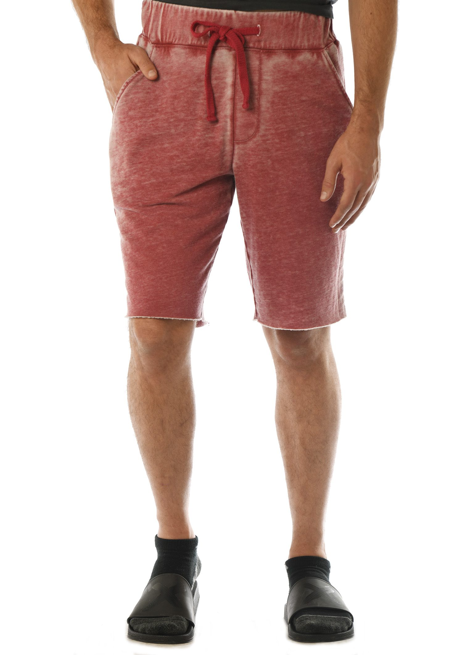 GG 315-FT-B Men's WornWash Shorts-front