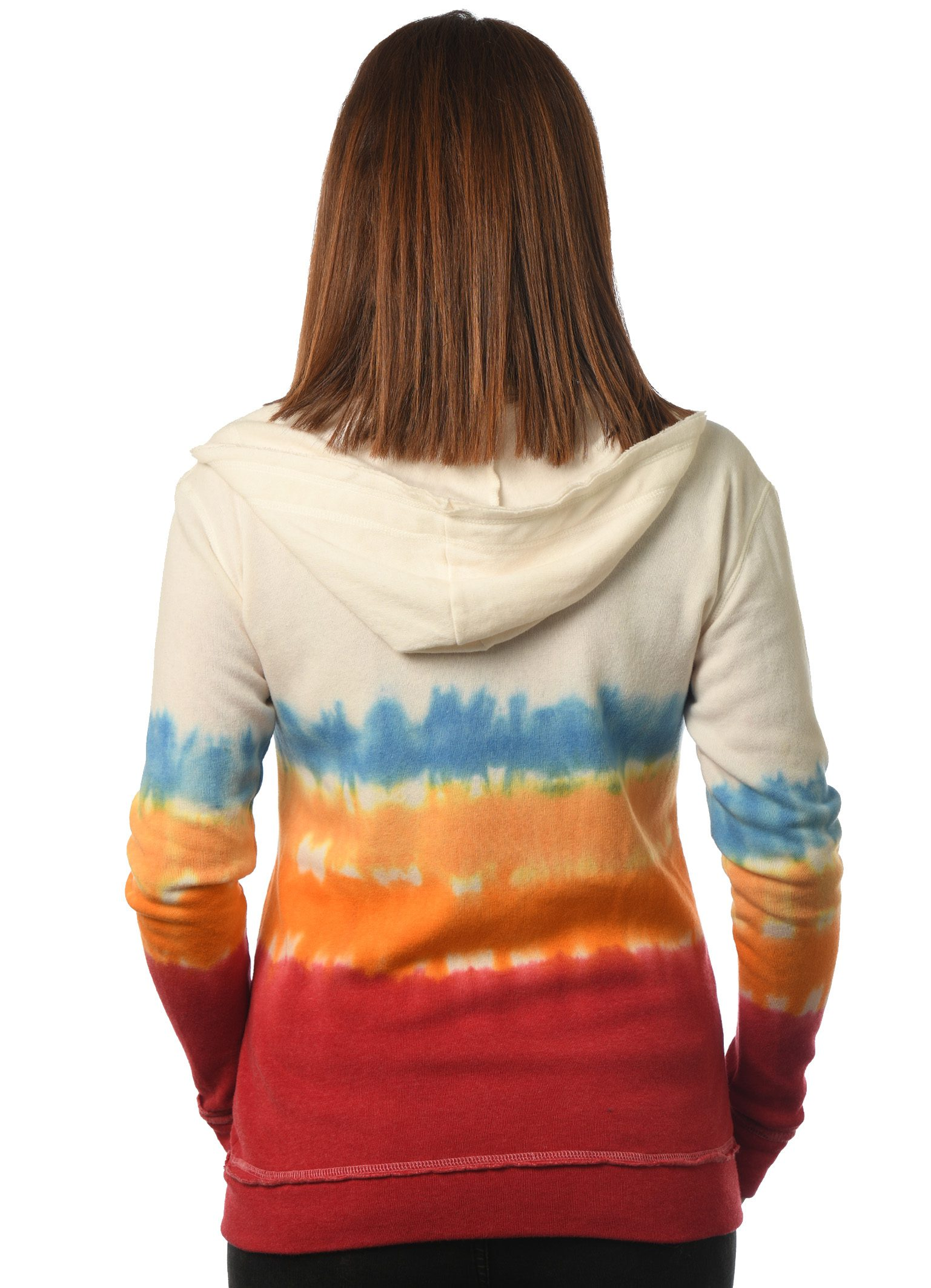 GG 782-DD women's dipdye zip hoodie back