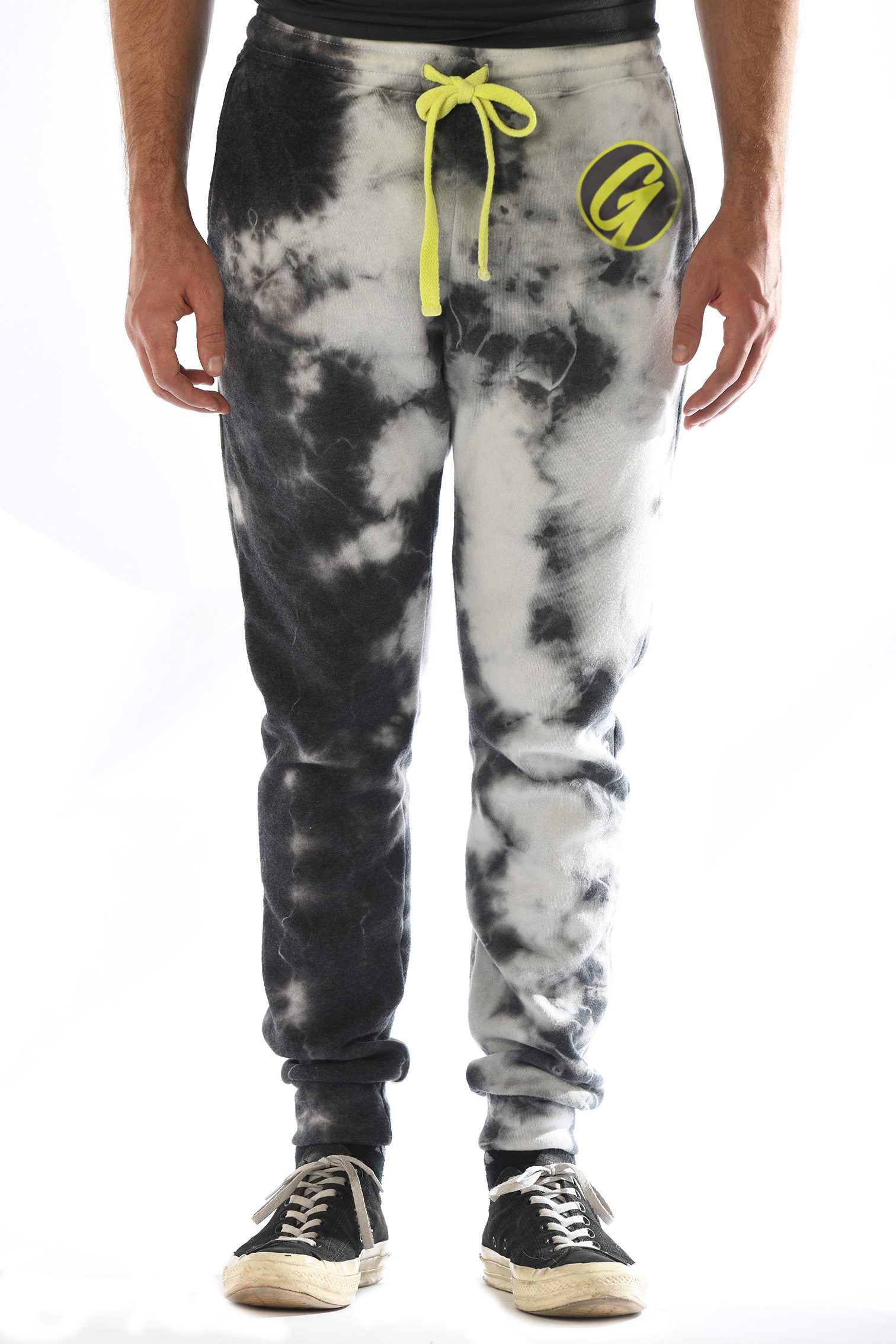 GG 311-CW Mens Crystal-wash skinny jogger front 2 GG-FX1