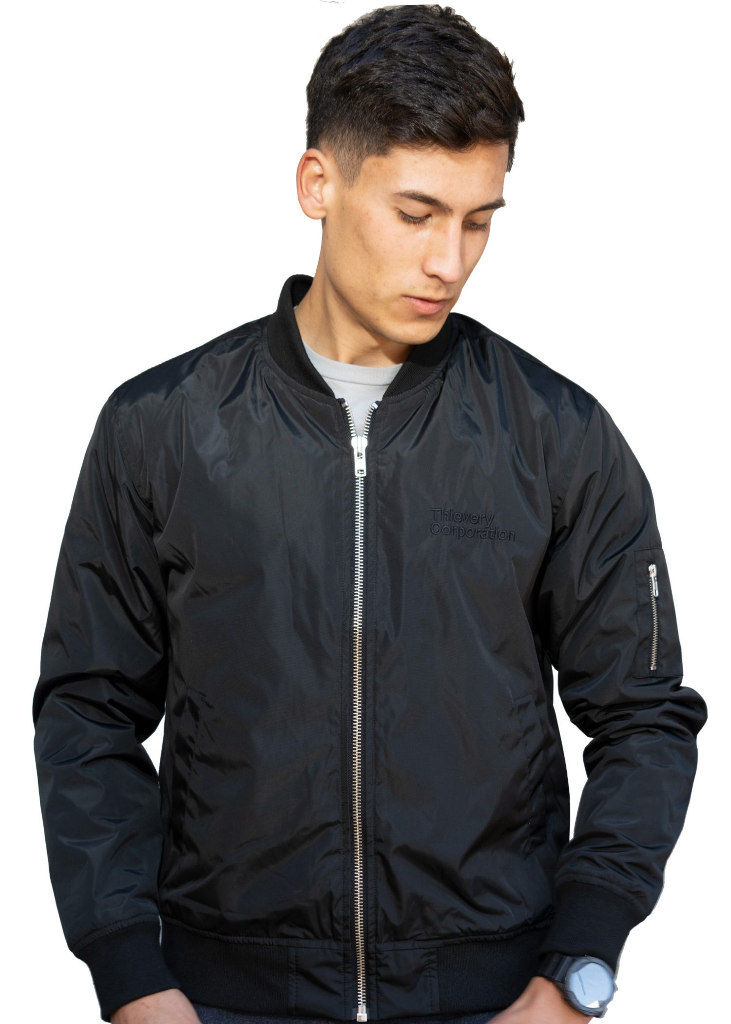 GG 900 FRONT BLK BOMBER- THIEVERY