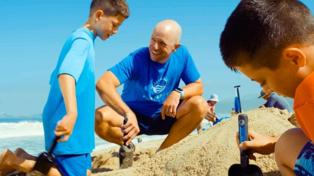 """""""Want to have more fun at the beach this summer?  Check out the awesome new eco-friendly sand castle tools that just launched on @kickstarter from our friends at @pufferfish.fun ! And did you see the sweet Golden Goods tee in the pic?!""""  #kickstarter #crowdfunding #beach #beachlife #sandcastle #sandcastles #familyfun #ecofriendly #pufferfishfun"""