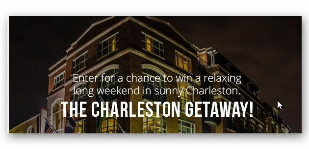 Win a Weekend Getaway to Charleston!