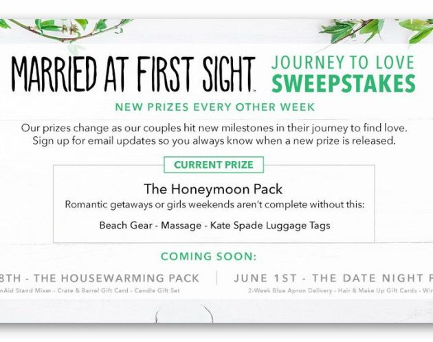 Married at First Sight - Journey to Love Sweepstakes