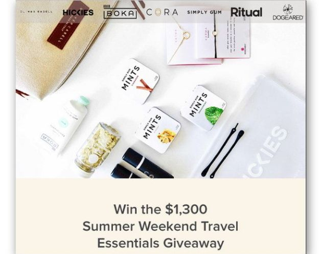 Summer Weekend Travel Essentials Giveaway
