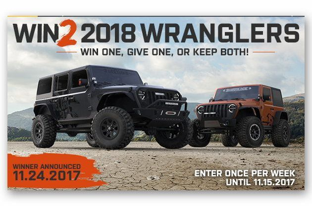 Win Two 2018 JL Jeep Wranglers