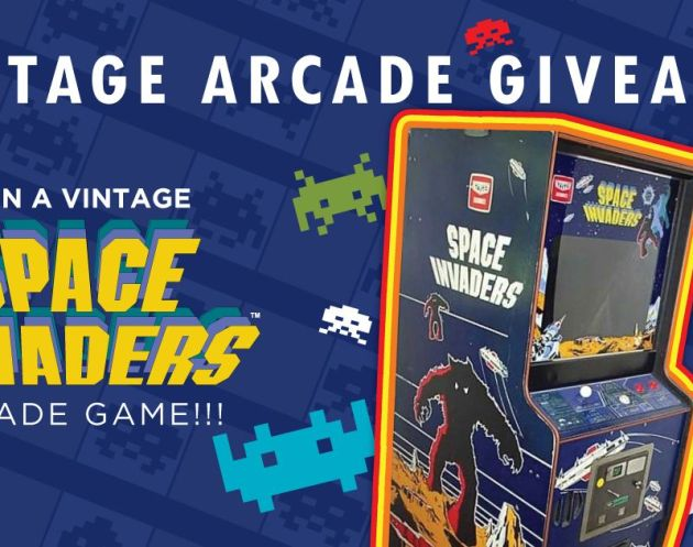 Vintage SPACE INVADERS Arcade Game Giveaway
