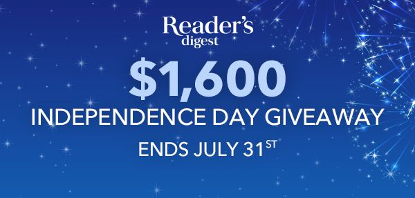 Reader's Digest $1,600 Independence Day Giveaway