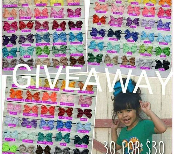 BargainBows.com Hair Bows Giveaway