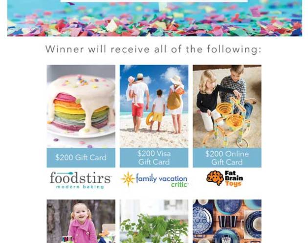 Win a $1200 Family Shopping Spree