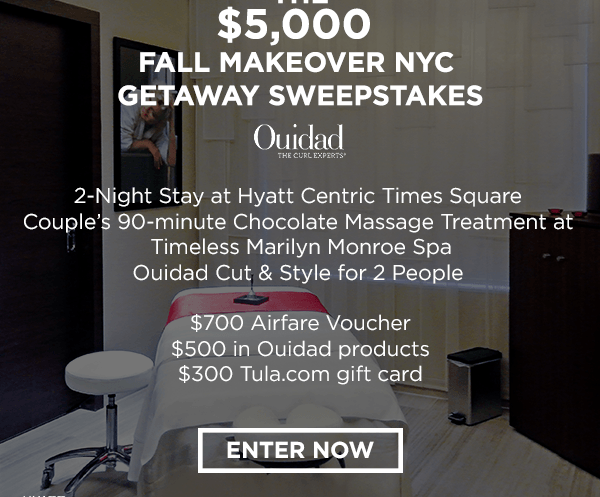 The $5,000 Fall Makeover NYC Getaway Sweepstakes