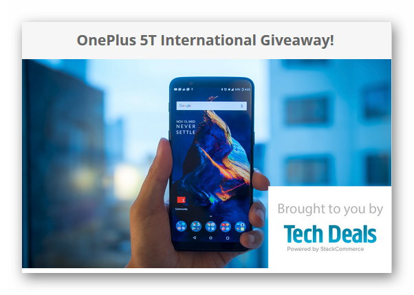 Android Authority OnePlus 5T International Giveaway