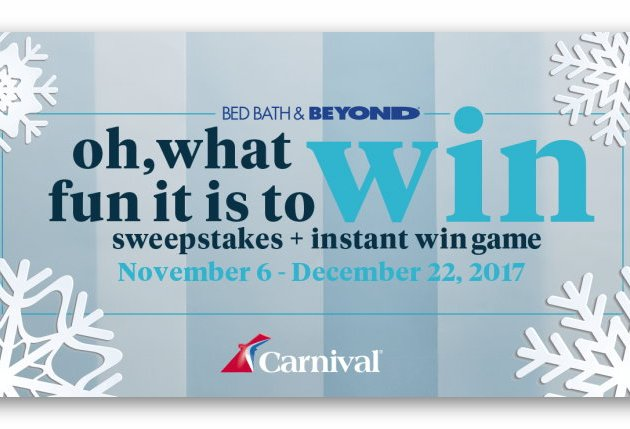Bed Bath & Beyond Oh, What Fun It is to Win Sweepstakes + Instant Win Game