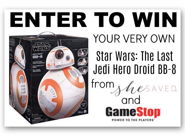 Star Wars:Last Jedi Hero Droid BB-8 Giveaway