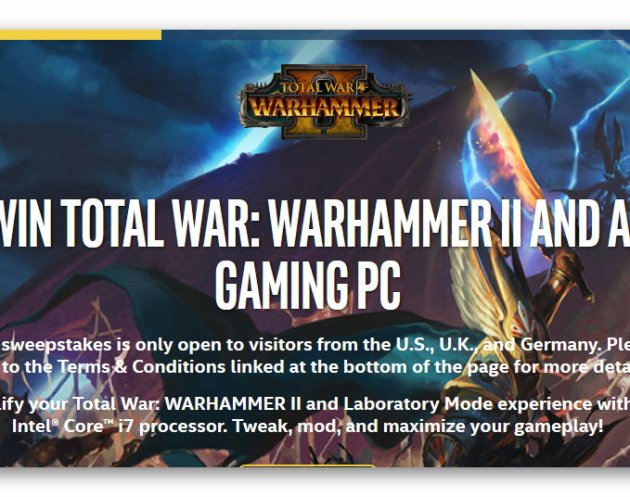 Win Total War: Warhammer II and a Gaming PC