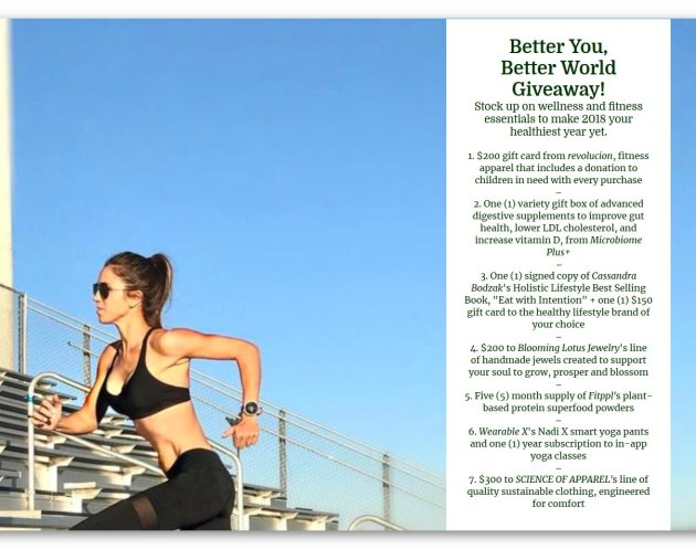 Better You Better World Giveaway