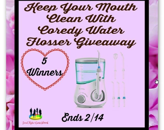 Keep Your Mouth Clean With Coredy Water Flosser Giveaway