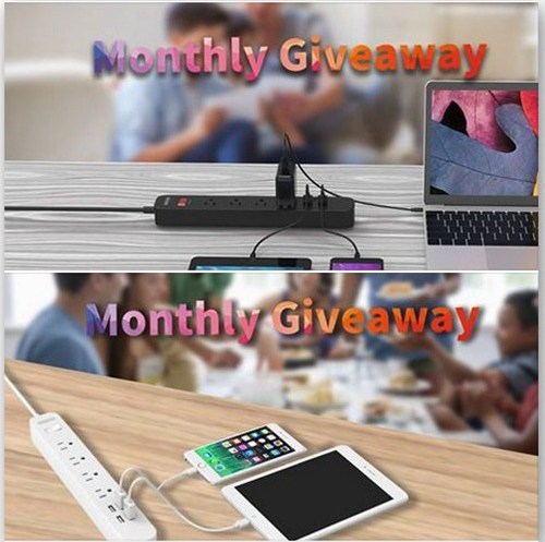 Win a Slim Electric Surge Protector Power Strip