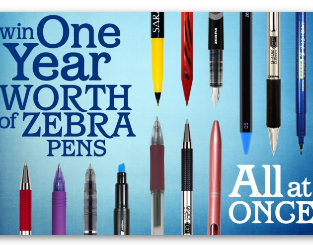 Win a Year worth of Zebra Pens