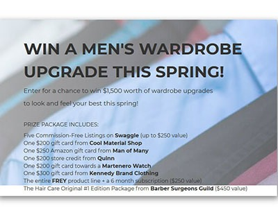 Win a Men's Spring Wardrobe Upgrade