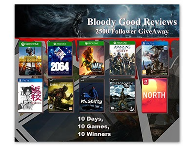 BloodyGoodReviews 2500 Follower Giveaway