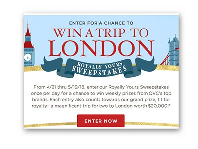 QVC Royally Your Sweepstakes