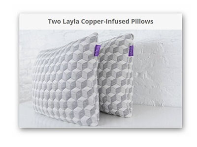 Layla Sleep Copper Infused Pillow Giveaway