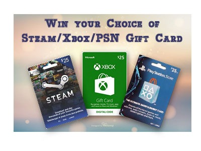 Win a $25 Gift Card for Steam/PSN/Xbox