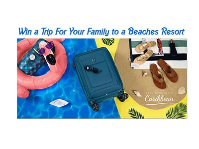 Delsey Luggage Countdown To The Caribbean Giveaway