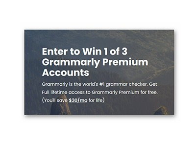 Free Grammarly Premium Accounts for Life Giveaway