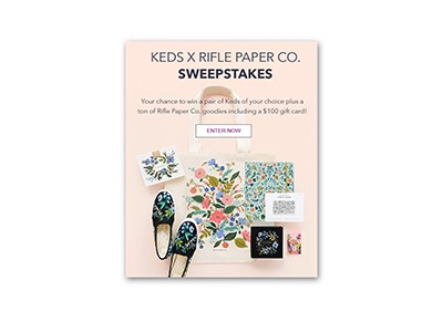 Keds X Rifle Paper Co Sweepstakes