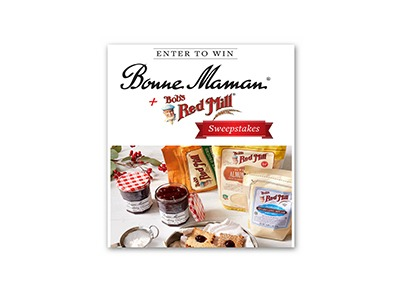Bonne Maman & Bob's Red Mill Sweepstakes