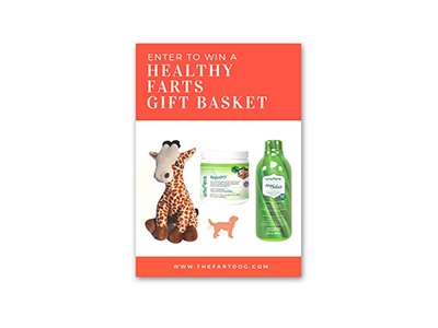Win a Farting Plush and Dog Care Basket