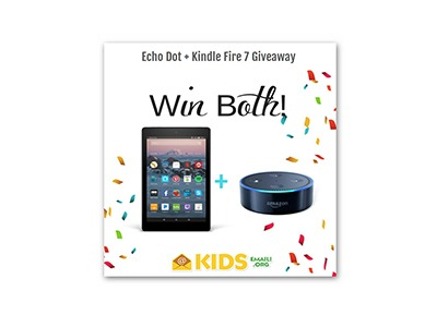Echo Dot and Kindle Fire 7 Giveaway