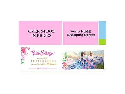LILLY PULITZER POTTERY BARN SWEEPSTAKES
