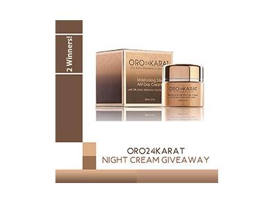 ORO24Karat Night Cream Giveaway