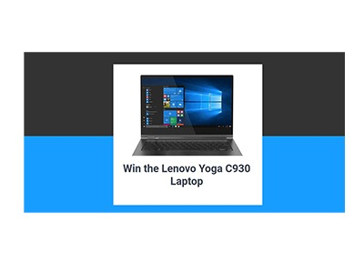 Win a Lenovo Yoga Laptop